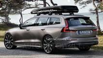 2018 Volvo V60 sızdırılan fotoğraflar