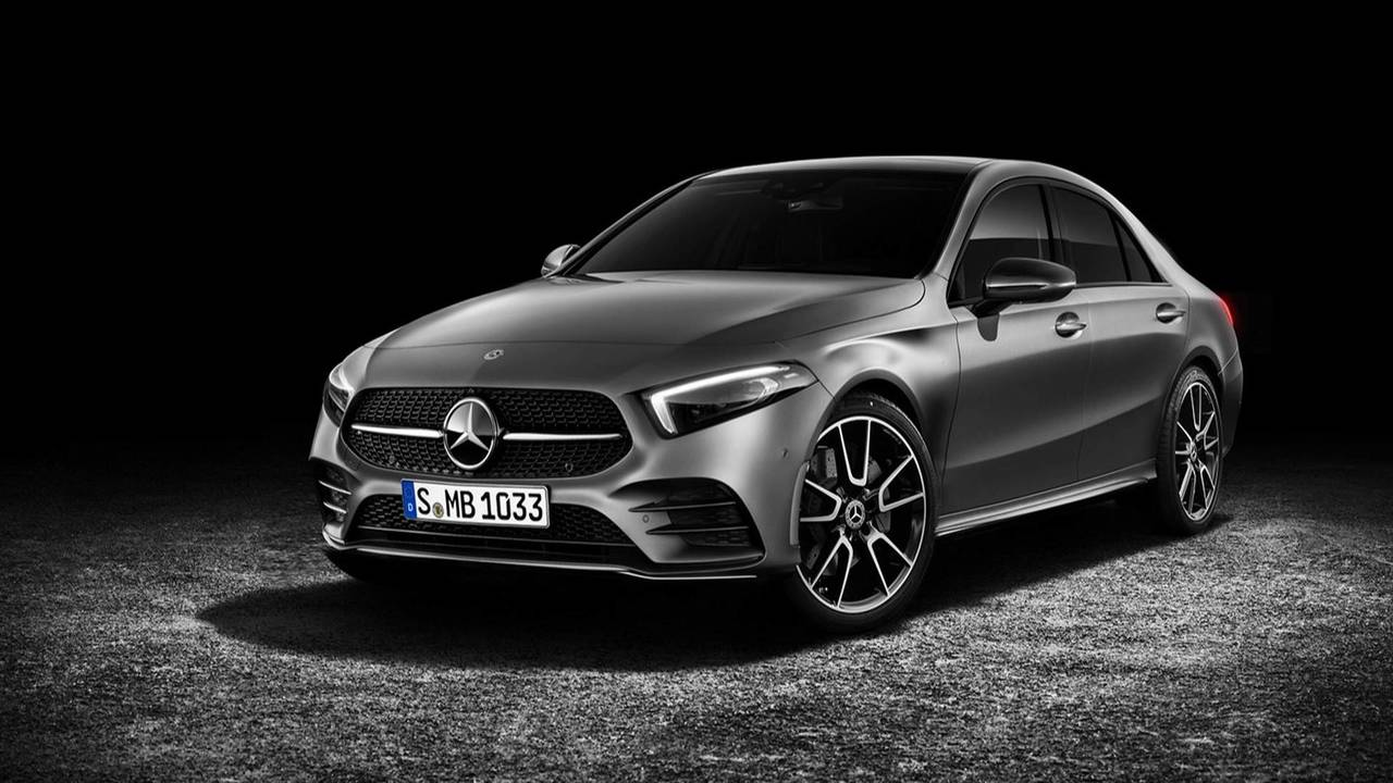 mercedes benz a class sedan rendering photo. Black Bedroom Furniture Sets. Home Design Ideas