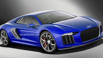 Audi R8 rendering / Theophilus Chin