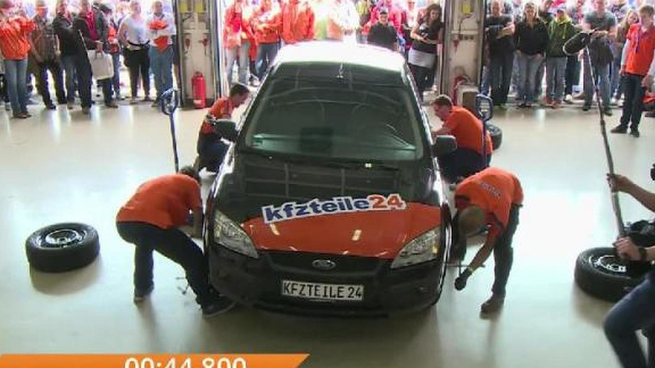 Guinness World Record for the fastest tire change