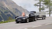 2019 Audi A7 Test Mule Fire