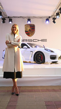 Maria Sharapova shows off her unique Porsche Panamera GTS