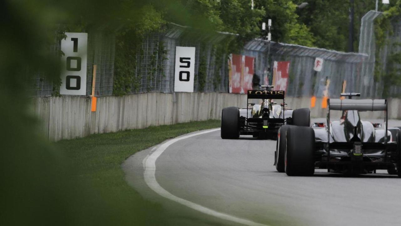 Romain Grosjean leads Nico Hulkenberg 07.06.2013 Canadian Grand Prix