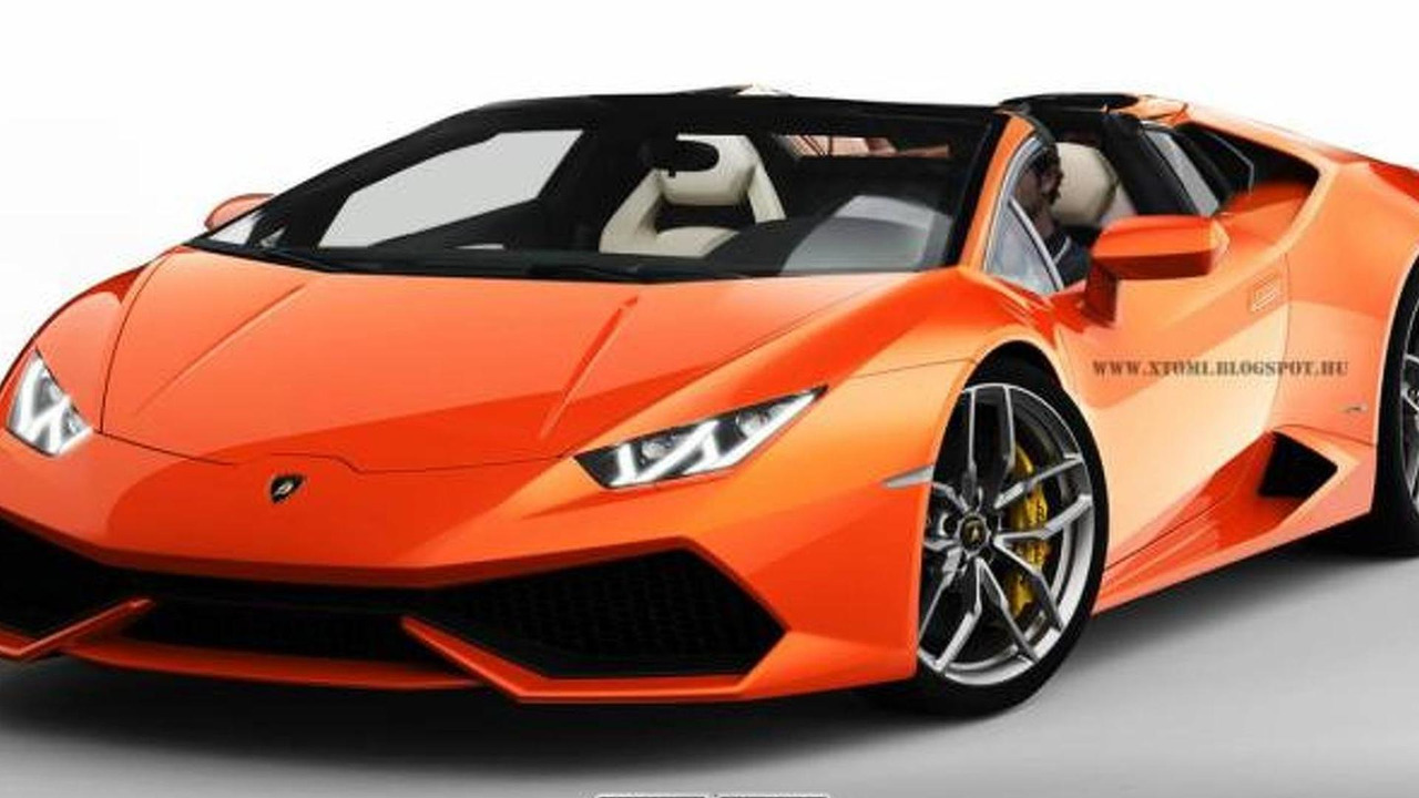 Lamborghini Huracan Roadster render