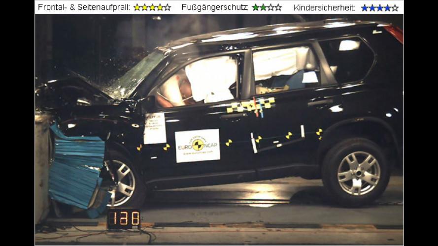 EuroNCAP-Crashtest: Nissan X-Trail bekommt vier Sterne