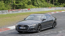 2019 Audi S8 new spy photos from the Nurburgring
