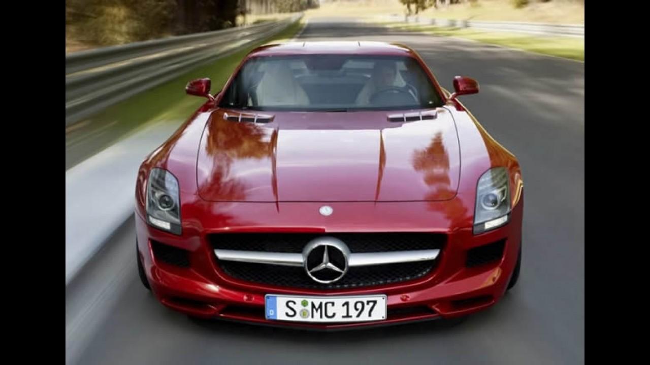 """Mercedes SLS é escolhido como """"carro europeu mais atraente"""""""