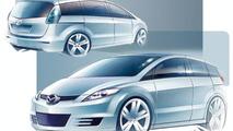 Mazda 5 sketch