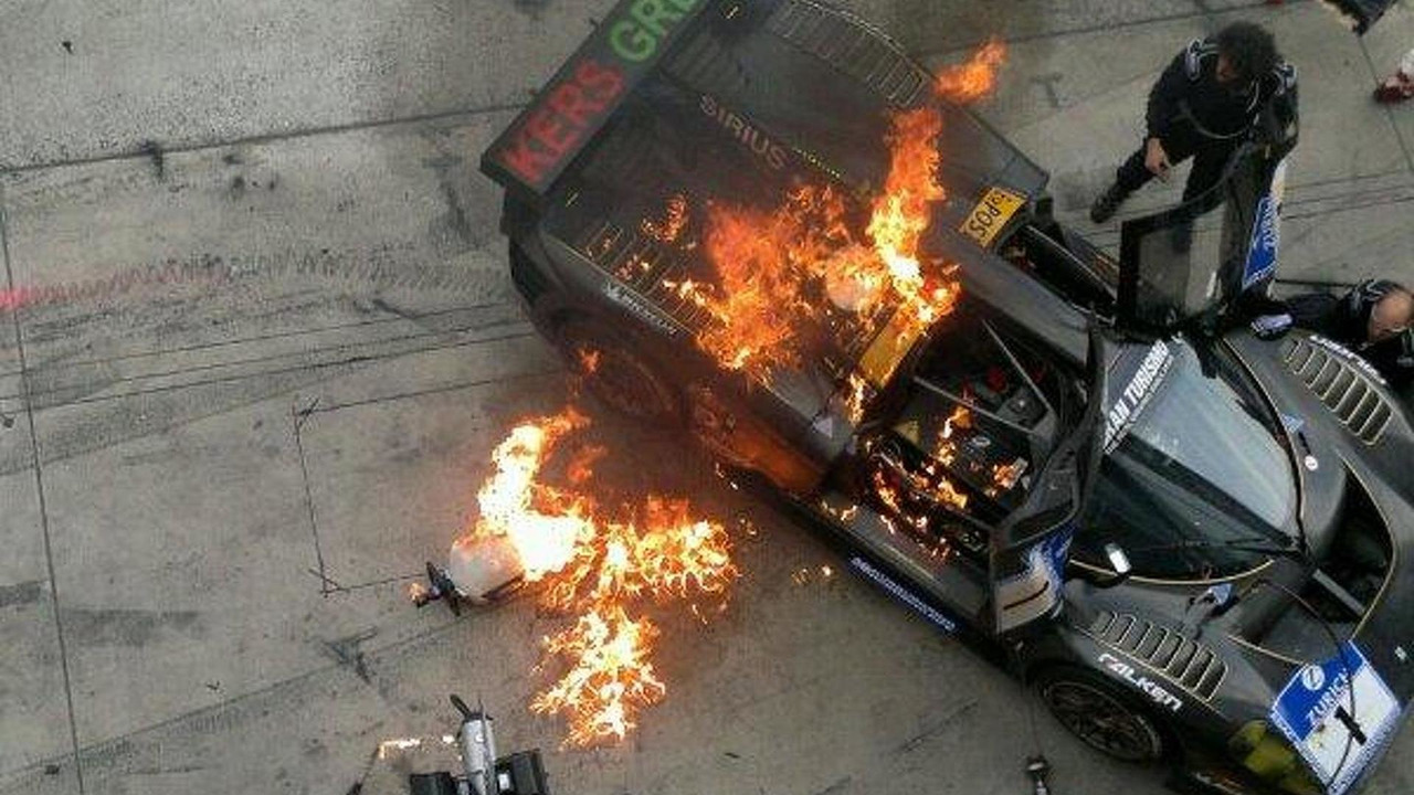 Ferrari P4/5 caught fire at Nurburgring 24 Hours, 600, 31.05.2012