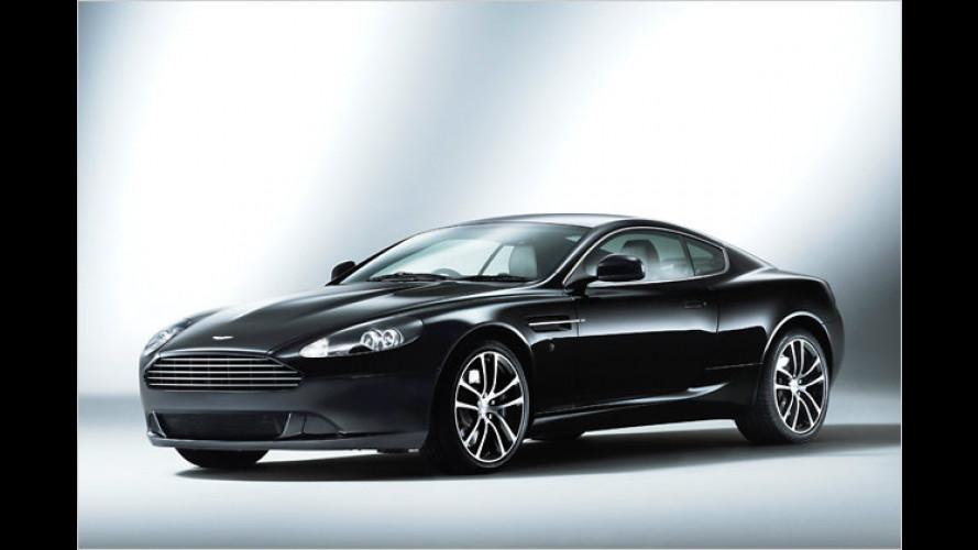 Aston Martin DB9: Editionen in Schwarz, Silber und Weiß