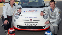 Fiat 500 with Luke Darcy and Ben Tune for Australian F1 Celebrity Challenge