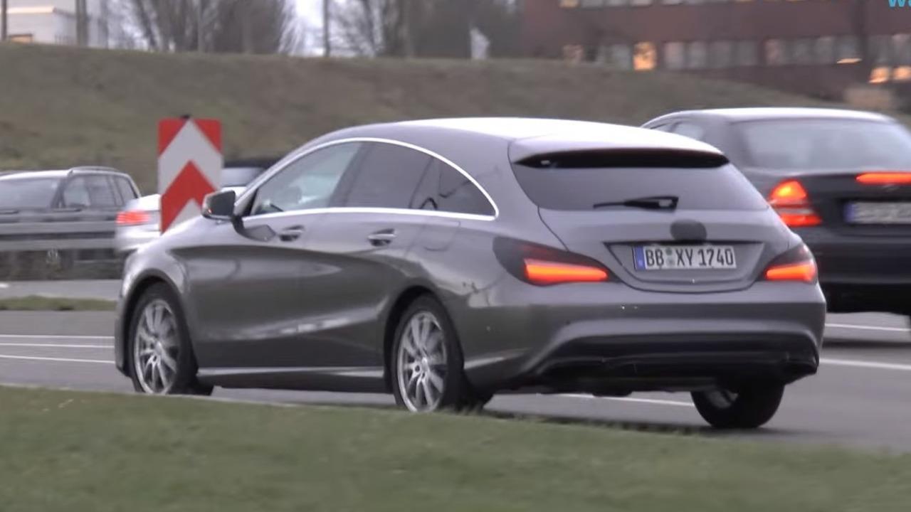 Mercedes CLA Shooting Brake screenshot from spy video