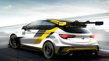 Opel Astra TCR race car teased for Frankfurt