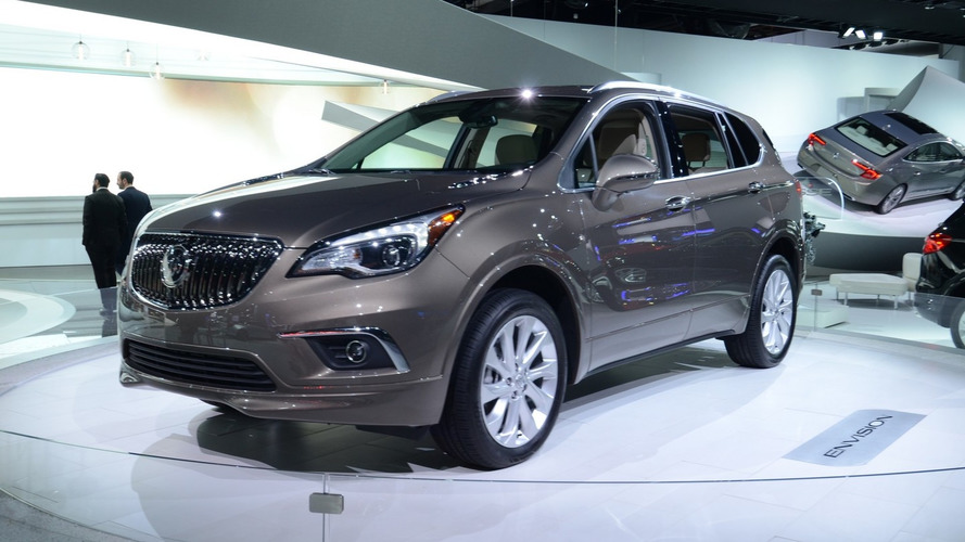 Buick Envision poses for the camera in US guise at Detroit Auto Show