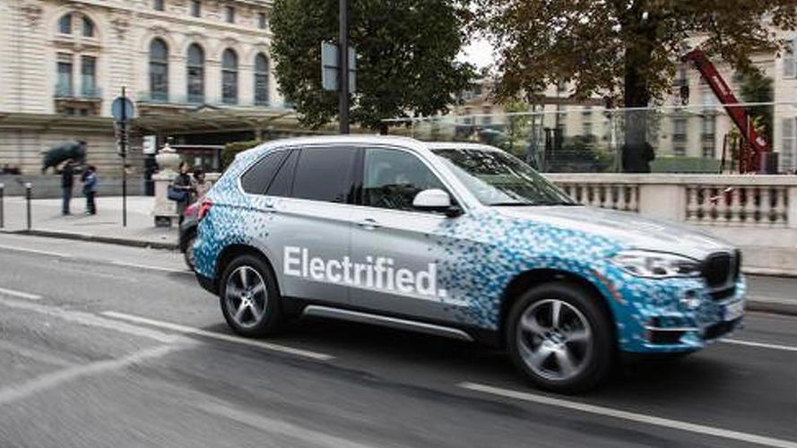 BMW X5 Concept eDrive spotted in Paris