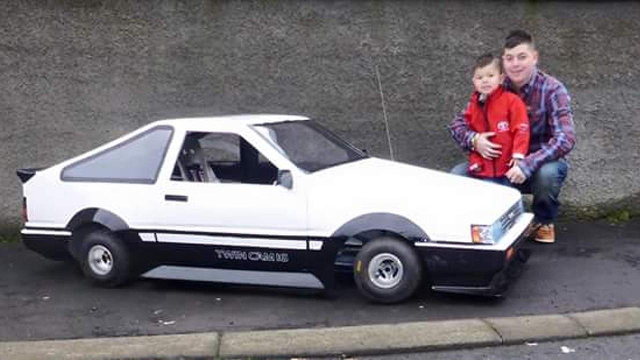Toyota Corolla AE86 classic recreated on go-kart chassis