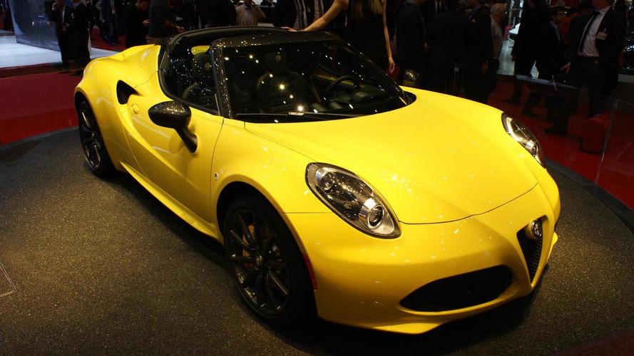 Alfa Romeo 4C Spider makes European debut in Geneva