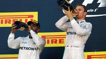 Podium: winner Nico Rosberg, Mercedes AMG F1 Team, second place Lewis Hamilton