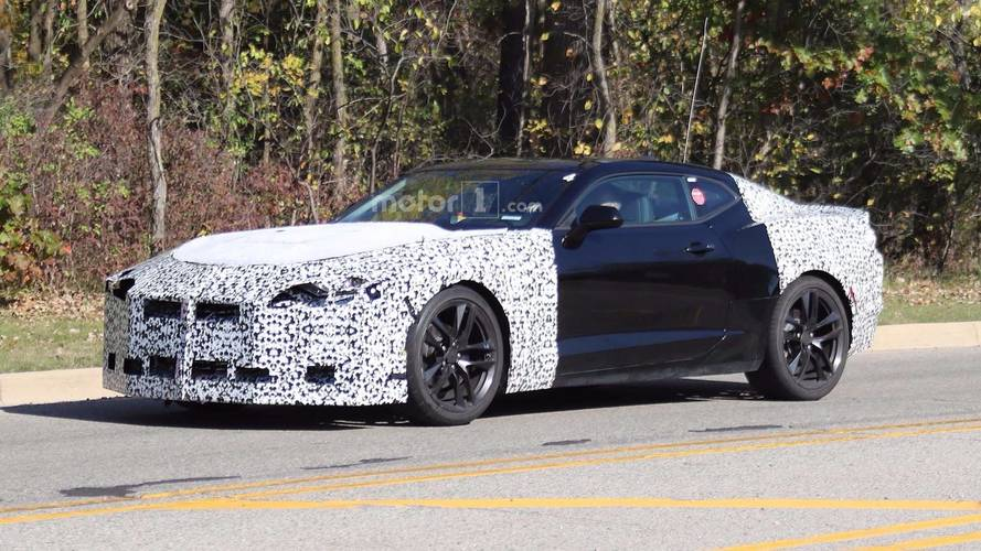 2019 Chevrolet Camaro Fleet Spied With A Shelby Mustang In Tow