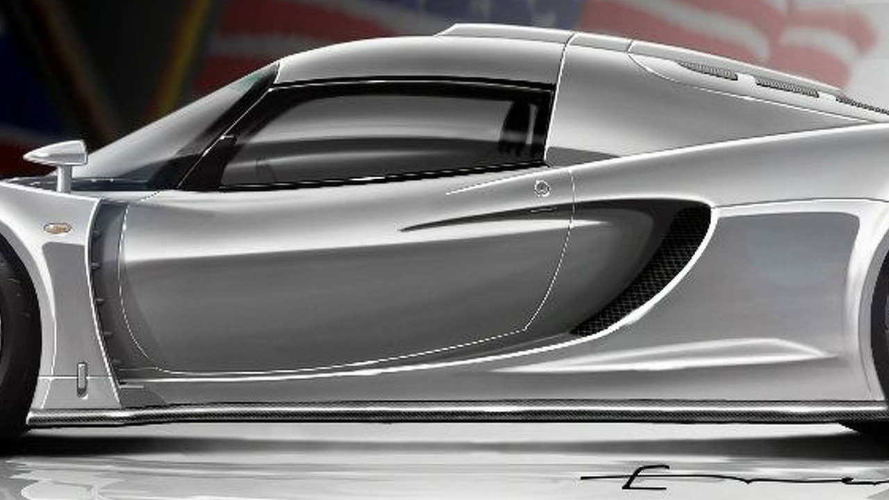 Hennessey Venon GT concept illustration - wing up - 1600