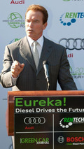 Audi A3 TDI, Governor Arnold Schwarzenegger, Eureka! Diesel Drives The Future' event, 10.19.2010, Sacramento, California