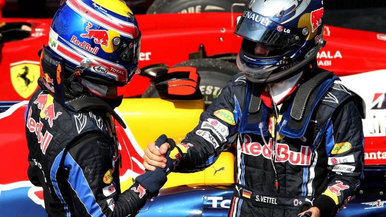 Mark Webber (AUS), Red Bull Racing, Sebastian Vettel (GER), Red Bull Racing - Formula 1 World Championship, Rd 18, Brazilian Grand Prix, 07.11.2010 Sao Paulo, Brazil