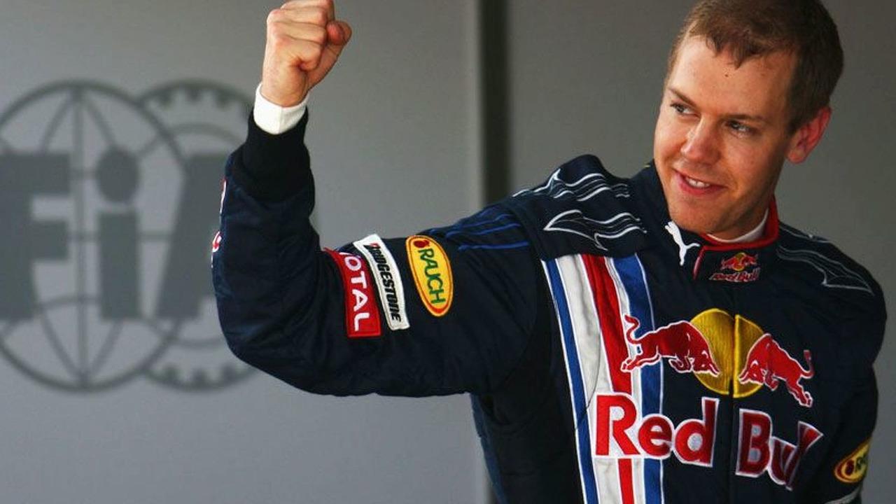 Sebastian Vettel scores Red Bull's first pole