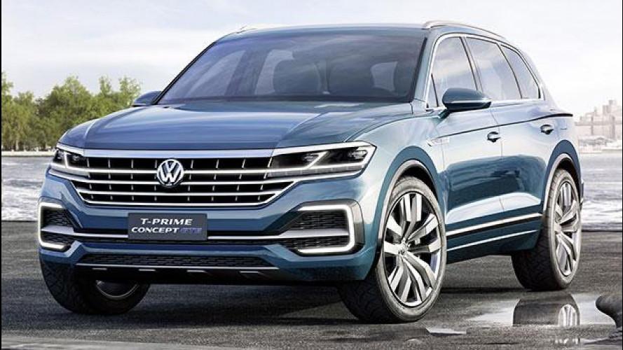 Volkswagen T-Prime Concept GTE, prove di Touareg