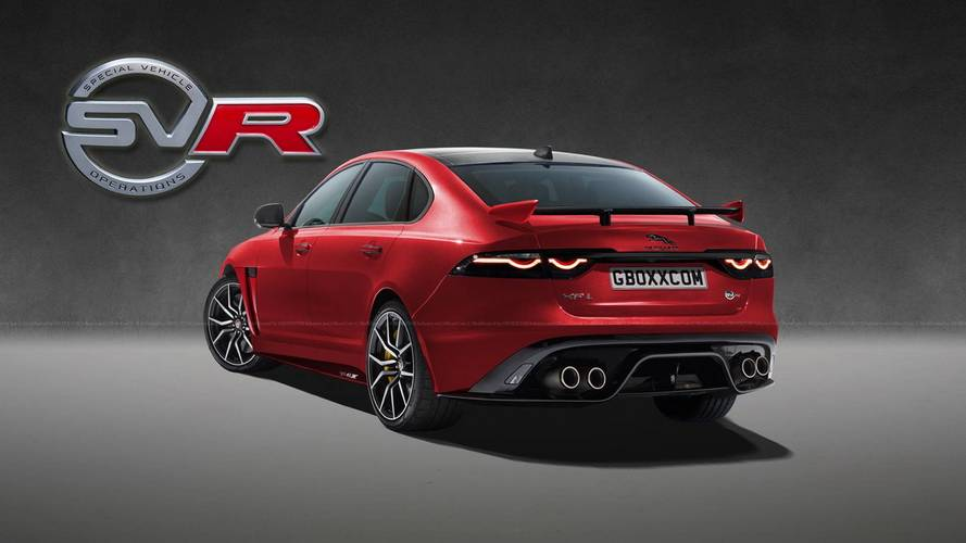 Jaguar XF SVR render