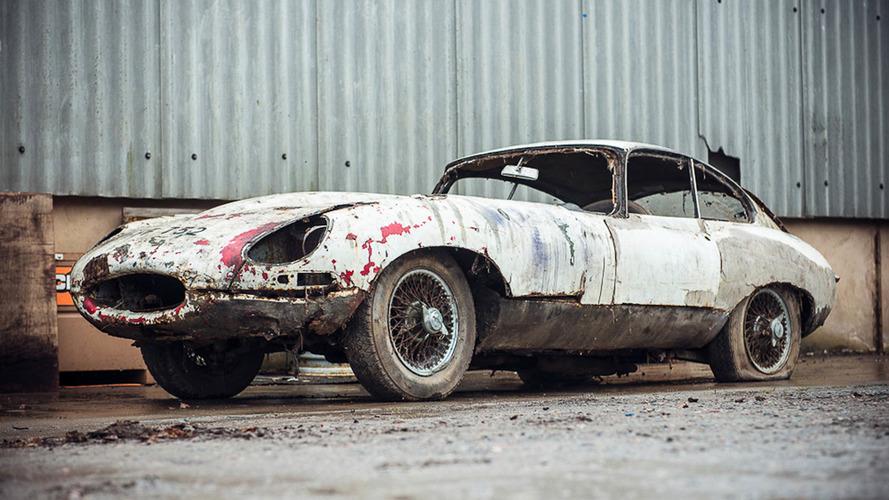 Bu hurda Jaguar E-Type için 54,000 dolar talep ediliyor