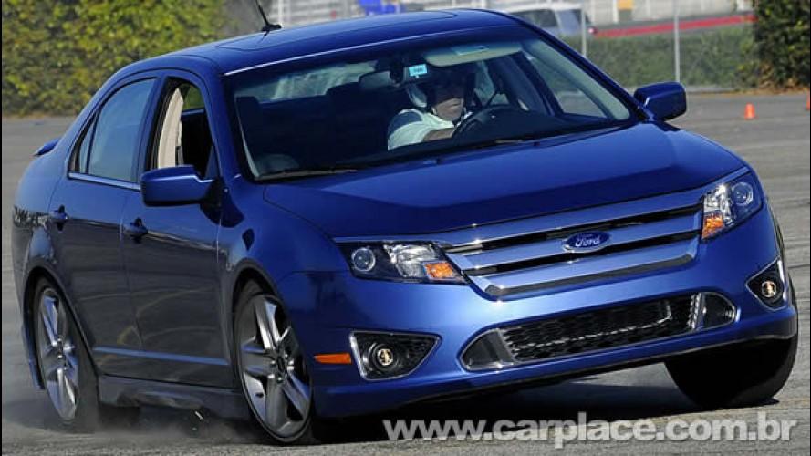 Novo Ford Fusion V6 já roda no Brasil - Sedan será lançado em maio no mercado nacional