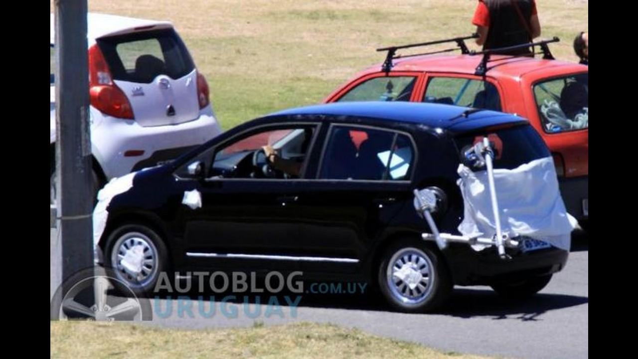 VW Up! é flagrado durante filmagem de comercial no Uruguai
