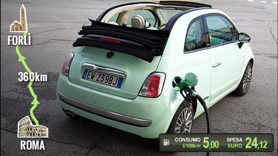 Fiat 500C TwinAir, la prova dei consumi reali