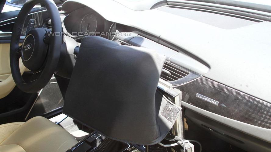2012 Audi S6 spied with carbon fiber interior