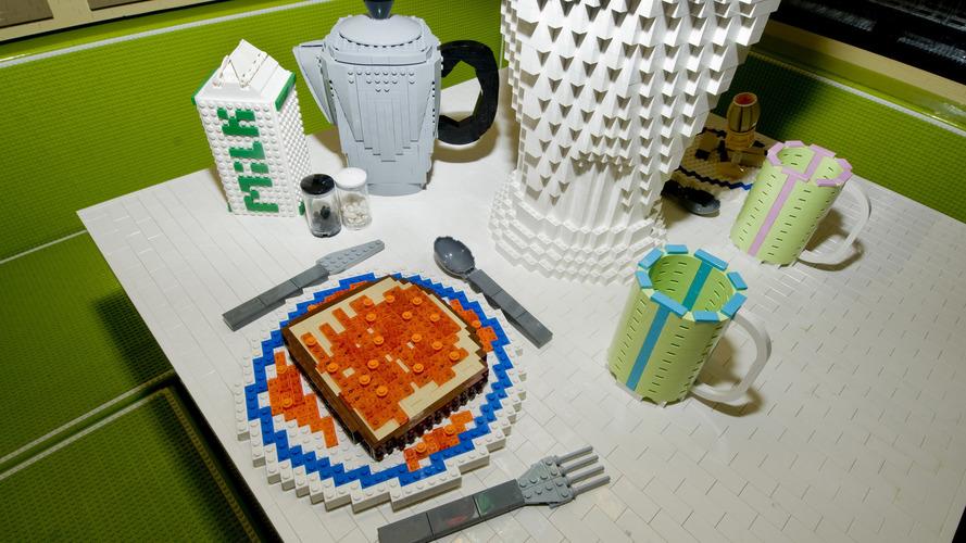 Lego'lardan yapılma karavan