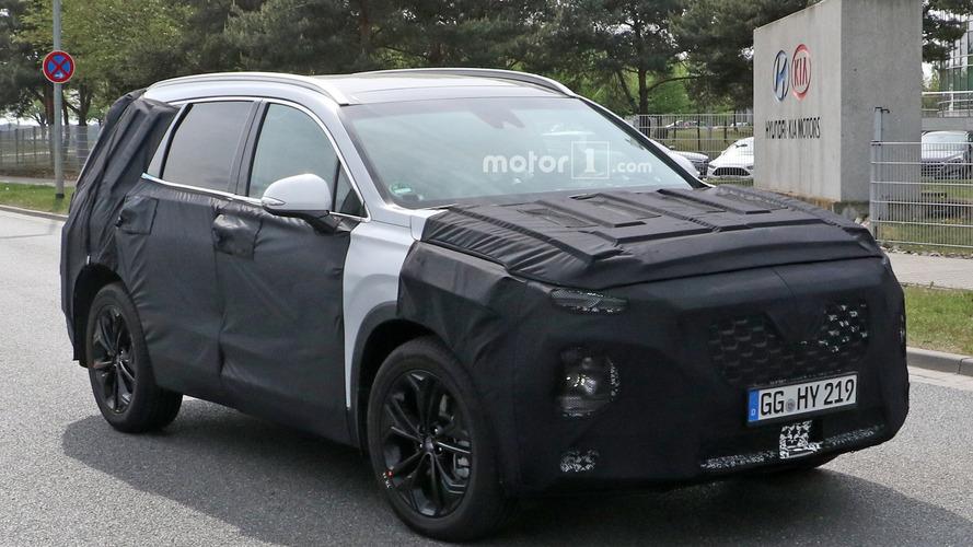 Next Hyundai Santa Fe Spied In A Little Less Camo
