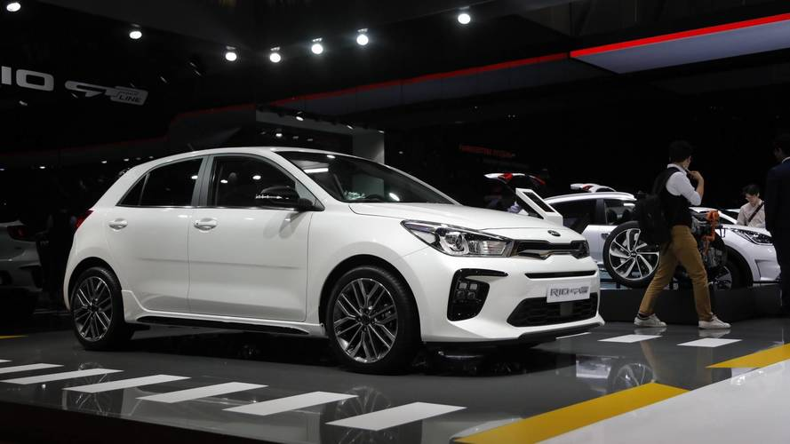 Kia Rio GT Line at the 2018 Geneva motor show
