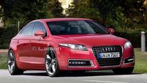 Audi A7 4 door coupe rendering