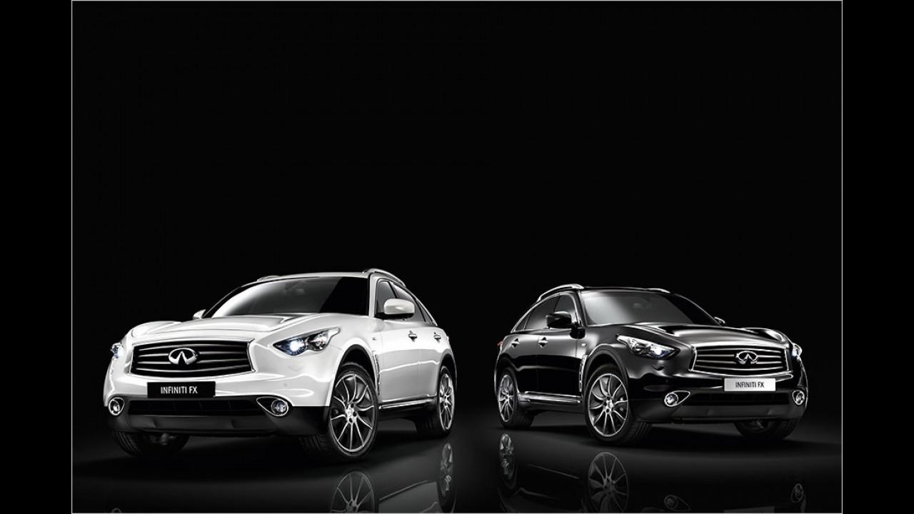 Infiniti FX Black and White