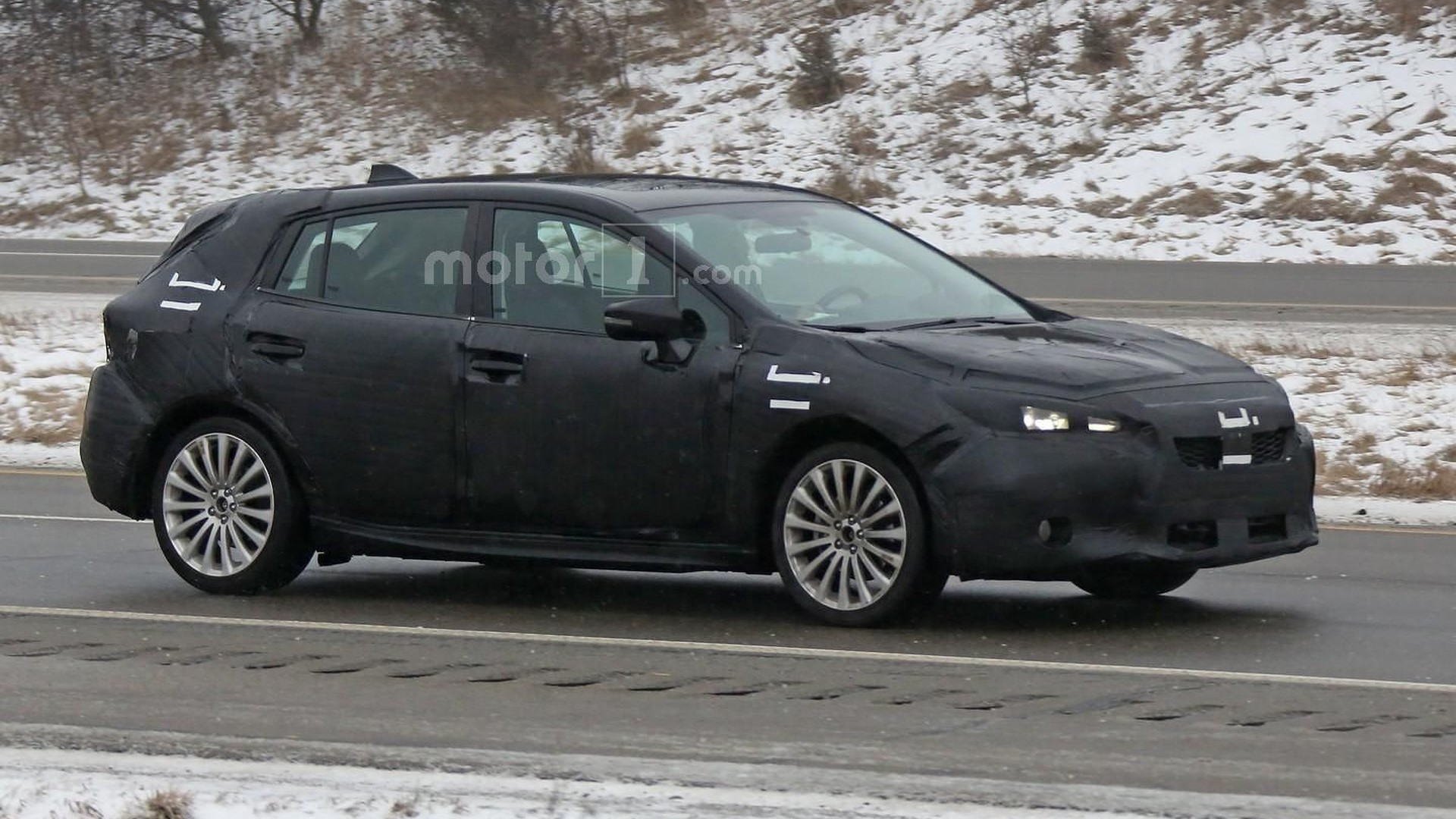 2017 subaru impreza hatchback spied during final testing. Black Bedroom Furniture Sets. Home Design Ideas
