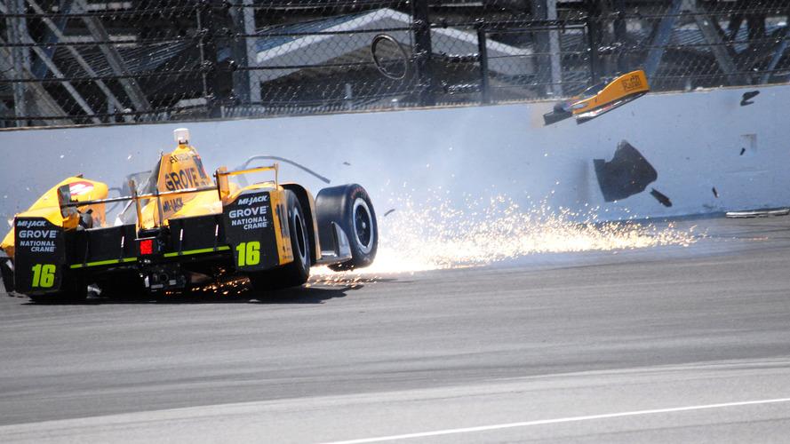 Spencer Pigot crash halts Wednesday Indy 500 practice