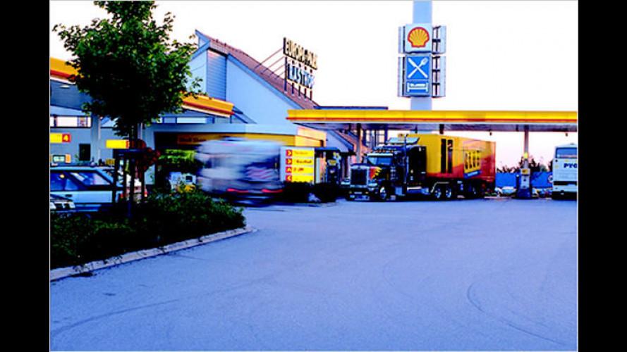Erste Erdgas-Tankstelle an bundesdeutschen Autobahnen